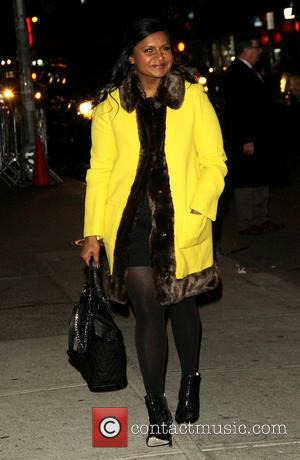 Mindy Kaling - Celebrities outside the Ed Sullivan Theater to appear on the Late Show with David Letterman - New...