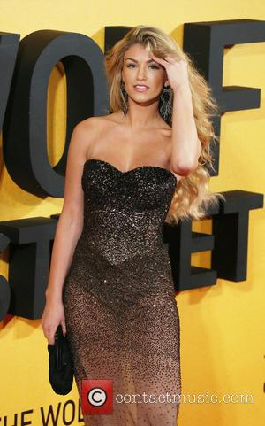 Amy Willerton - The wolf of Wall Street UK premiere in Leicester Square - London, United Kingdom - Thursday 9th...