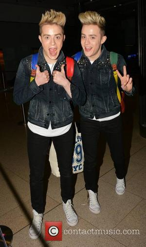 Jedward - John & Edward Grimes aka Jedward arrive home to Dublin Airport off a flight from Manchester... - Dublin,...