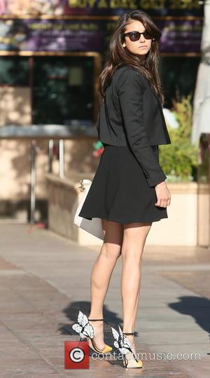 Nina Dobrev - Nina Dobrev visits Universal Studios where she was interviewed by Mario Lopez for television show 'Extra' -...