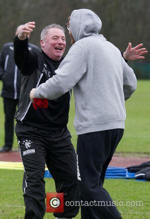 Rangers Manager Ally Mccoist and James Arthur
