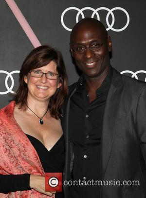 Lance Reddick and Stephanie Reddick - Audi Celebrates Golden Globes Weekend At Cecconi's Restaurant - Los Angeles, California, United States...