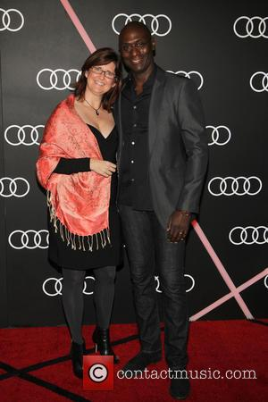 Lance Reddick and Stephanie Reddick - Audi Celebrates Golden Globes Weekend At Cecconi's Restaurant - Los Angeles, California, United States...