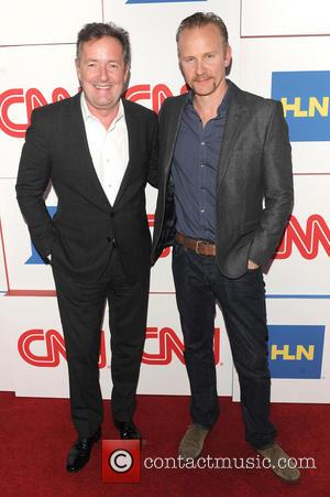 Piers Morgan and Morgan Spurlock - CNN Worldwide All-Star Party at TCA - Arrivals - Los Angeles, California, United States...