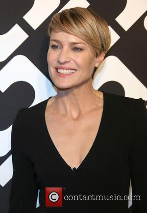 Robin Wright - Diane Von Furstenberg's Journey of A Dress exhibition opening celebration at May Company Building at LACMA West...