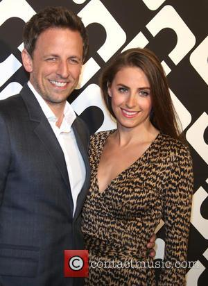 Seth Meyers and Alexi Ashe - Diane von Furstenberg's 'Journey Of A Dress' 40th Anniversary Party at Wilshire May Company...