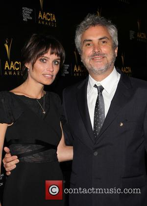 Alfonso Cuarón and Sheherazade Goldsmith - 3rd AACTA International Awards At Sunset Marquis Hotel - Los Angeles, California, United States...