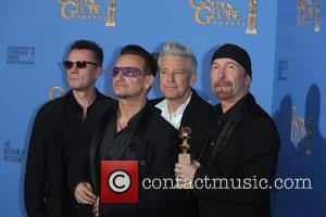 Larry Mullen Jr. (l-r), Bono, Adam Clayton and The Edge Of U2