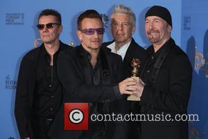 Larry Mullen Jr. (l-r), Bono, Adam Clayton and The Edge Of U2