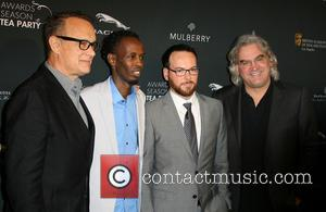 Tom Hanks, Barkhad Abdi, Dana Brunetti and Director Paul Greengrass