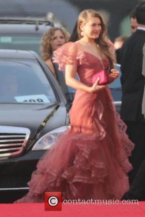 Joanna Newsom - 71st Annual Golden Globe Awards held at the Beverly Hilton Hotel - Arrivals - Los Angeles, California,...