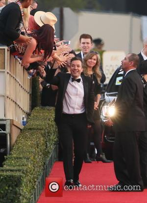 Jimmy Fallon - 71st Annual Golden Globe Awards held at the Beverly Hilton Hotel - Arrivals - Los Angeles, California,...