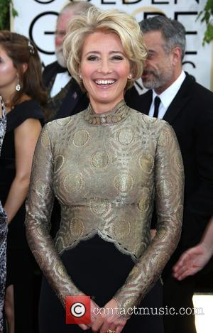 Emma Thompson - 71st Annual Golden Globes - Red Carpet Arrivals - Los Angeles, California, United States - Sunday 12th...