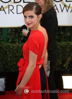 Emma Watson - 71st Annual Golden Globes - Red Carpet Arrivals - Los Angeles, California, United States - Sunday 12th...