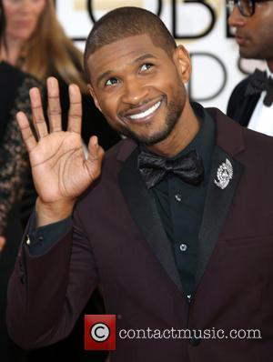 Usher - 71st Annual Golden Globes - Red Carpet Arrivals - Los Angeles, California, United States - Sunday 12th January...