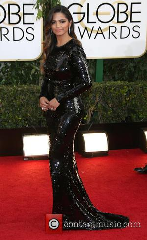 Camila Alves - 71st Annual Golden Globes - Red Carpet Arrivals - Los Angeles, California, United States - Sunday 12th...