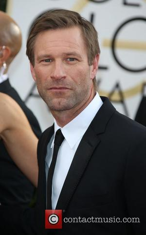 Aaron Eckhart - 71st Annual Golden Globe Awards held at The Beverly Hilton Hotel  - Red Carpet Arrivals -...