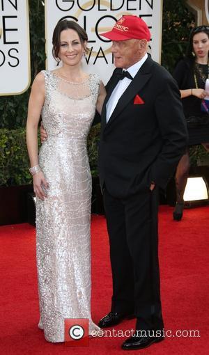 Niki Lauda and Birgit Wetzinger - 71st Annual Golden Globe Awards held at The Beverly Hilton Hotel  - Red...