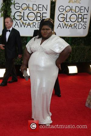 Gabourey Sidibe - 71st Annual Golden Globe Awards held at the Beverly Hilton Hotel - Arrivals - Los Angeles, California,...