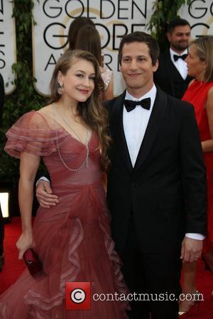 Joanna Newsom and Andy Samberg - 71st Annual Golden Globe Awards held at the Beverly Hilton Hotel - Arrivals -...