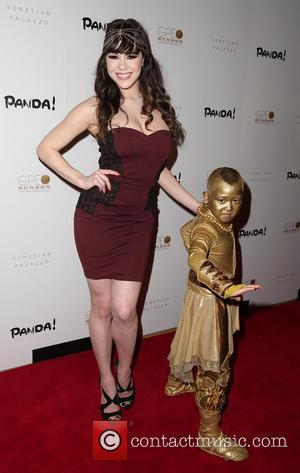 Claire Sinclair and Golden Child - Panda! World Premiere Event at The Venetian - The Palazzo Las Vegas - Las...