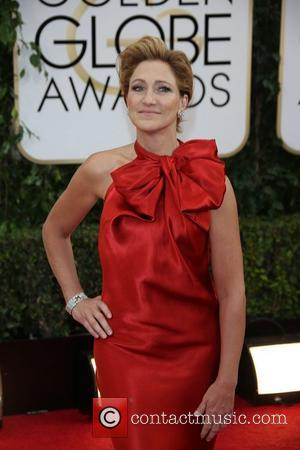 Edie Falco - 71st Annual Golden Globes - Red Carpet Arrivals - London, United Kingdom - Monday 13th January 2014