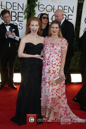 Jessica Chastain (l) and Drew Barrymore