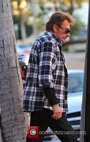 Johnny Hallyday - Johnny Hallyday and Laeticia Hallyday shopping with daughters Jade and Joy - Brentwood, California, United States -...