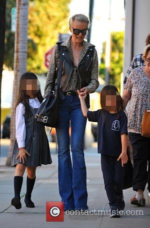 Laeticia Hallyday, Jade Hallyday and Joy Hallyday - Johnny Hallyday and Laeticia Hallyday shopping with daughters Jade and Joy -...