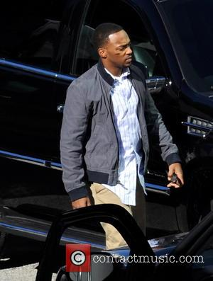 Anthony Mackie - Scarlett Johannson spotted arriving on the set of