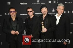 U2, Bono and The Edge - The Weinstein Company & Netflix 2014 Golden Globes After Party at The Old Trader...