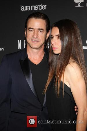 Dermot Mulroney and Tharita Catulle - The 71st Annual Golden Globe Awards - Weinstein Party  at The Beverly Hilton...