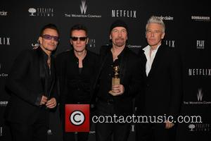 U2, The Edge, Bono, Golden Globe Awards, Beverly Hills Hotel