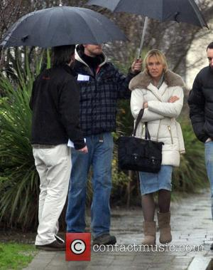 Toni Collette - Toni Collette and Jack Reynor on the film set of 'Glassland' - Dublin, Ireland - Tuesday 14th...