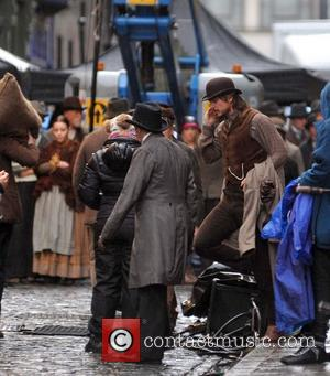 Josh Hartnett - Josh Hartnett filming 'Penny Dreadful' in Dublin's Temple Bar area - Dublin, Ireland - Tuesday 14th January...
