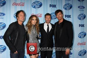 Ryan Seacrest, Keith Urban, Jennifer Lopez and Harry Connick Jr