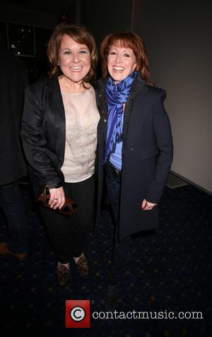Bonnie Langford and Wendi Peters - Celebrities atend the 'Happy Days Musical' Press Night at the Churchill Theatre in Bromley...