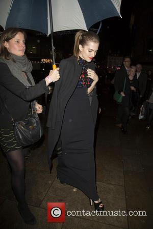 Allison Williams - The cast of Girls leaving the UK premiere of season three at Haymarket Cineworld, heading over to...