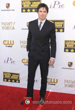 Ian Somerhalder - The 19th Annual Critics' Choice Movie Awards at the Barker Hangar - Arrivals - Los Angeles, California,...