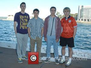 Blake Harrison, Simon Bird, Joe Thomas and James Buckley - 'The Inbetweeners Movie 2' photocall held at  Circular Key...