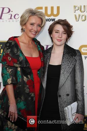 Emma Thompson and Gaia Wise - The 19th Annual Critics' Choice Awards at The Barker Hangar - Santa Monica, California,...
