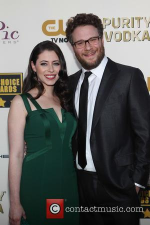 Lauren Miller and Seth Rogen - The 19th Annual Critics' Choice Awards at The Barker Hangar - Santa Monica, California,...