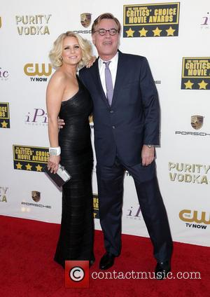 Carrie Keagan and Aaron Sorkin - The 19th Annual Critics' Choice Awards at The Barker Hangar - Arrivals - Los...
