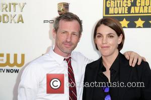 Spike Jonze and Megan Ellison - The 19th Annual Critics' Choice Awards at The Barker Hangar - Arrivals - Los...