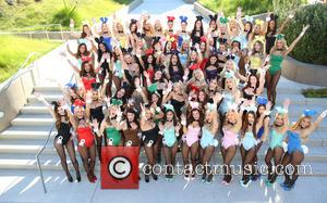 Playboy Bunnies - Playboy Celebrates 60th Anniversary with a 60 Bunnies Bus Tour in Los Angeles. - Los Angeles, California,...
