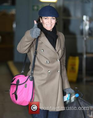 Amanda Abbington - Amanda Abbington outside the ITV Studios - London, United Kingdom - Friday 17th January 2014