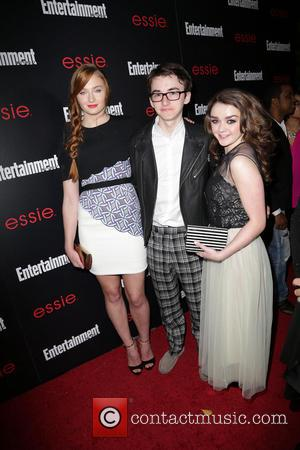 Sophie Turner, Isaac Hempstead-Wright and Maisie Williams - Entertainment Weekly Screen Actors Guild Party at Chateau Marmont - Arrivals -...
