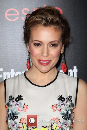 Alyssa Milano - Entertainment Weekly Screen Actors Guild Party at Chateau Marmont - Arrivals - Los Angeles, California, United States...