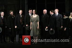 Rebecca Hall and cast - Opening night of Broadway's Machinal at the American Airlines Theatre - Curtain Call. - New...