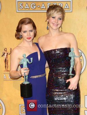 Jennifer Lawrence and Amy Adams